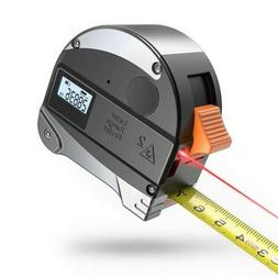 2 In 1 30m Laser Range Finder Digital Tape Measure Ruler Met