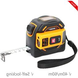 2-In-1 Laser Distance Meter 40m 60m Laser Tape Measure Laser