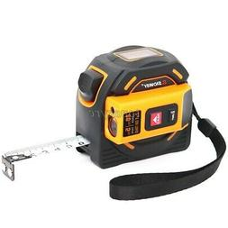2-In-1 Laser Distance Meter 60m Laser Tape Measure Laser Ran
