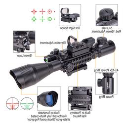 Pinty 4-12X50 Tactical Rangefinder Reticle Rifle Scope Green