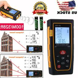 High accuracy 100M/328ft Digital LCD Laser Distance Meter Ra