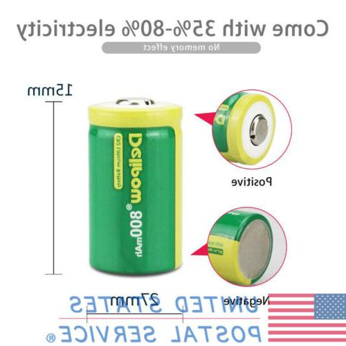 2pcs Lithium Rechargeable For Flashlight Rangefinder