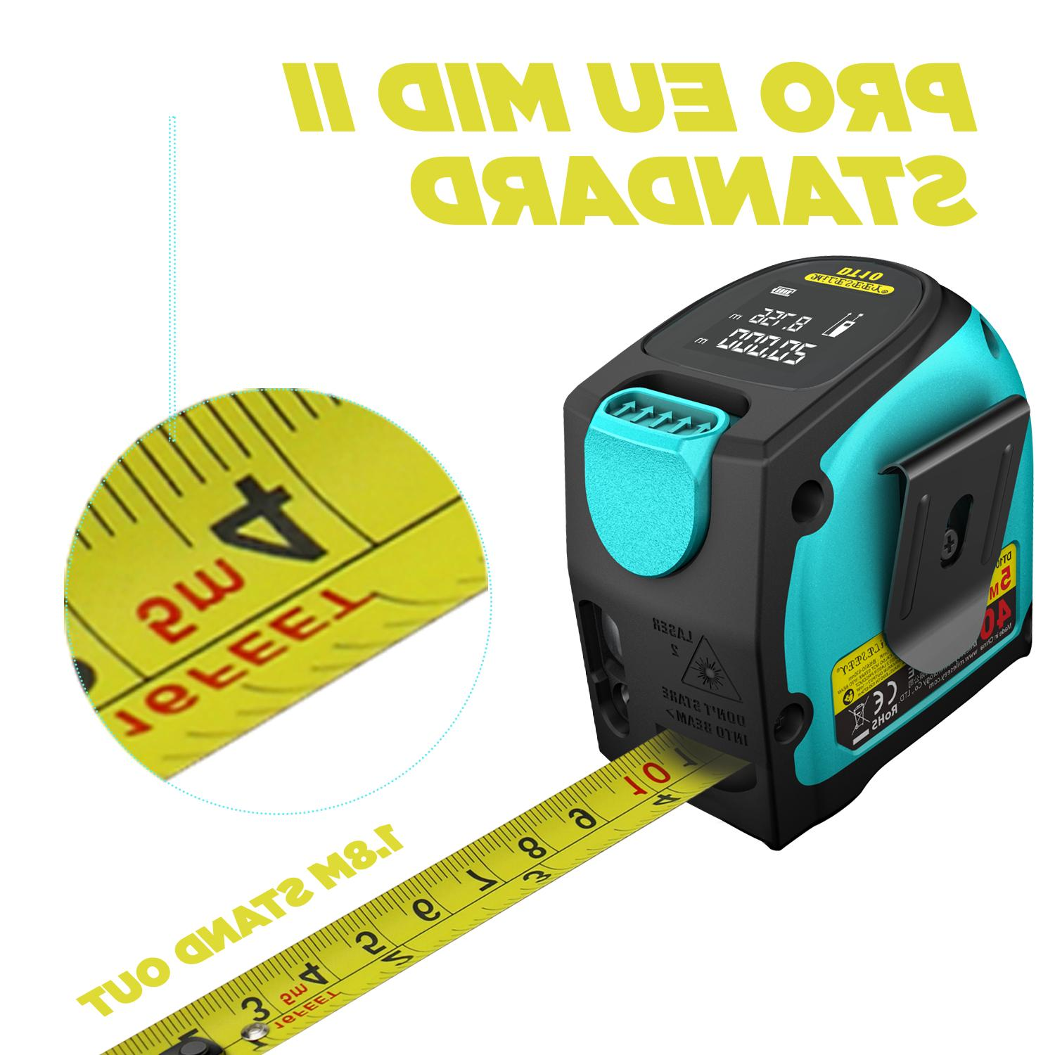 Mileseey 2-in-1 Laser Meter 197 Ft USA