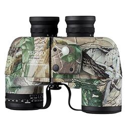 QUNSE Military Binoculars 10x50 with Range Finder and Compas